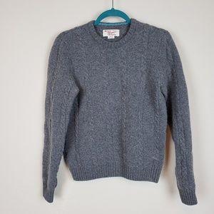 Lambswool knit sweater